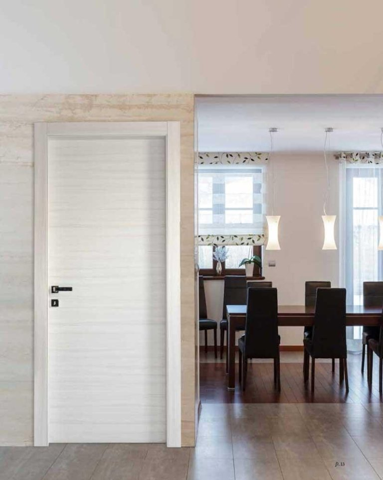 porta in palissandro bianco