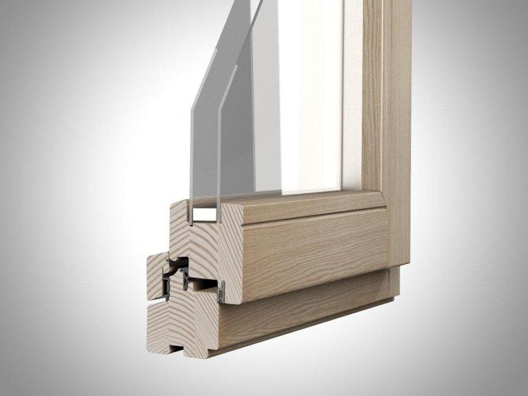 finestra in legno - sezione