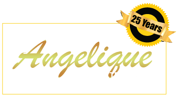 angelique hair extensions business logo