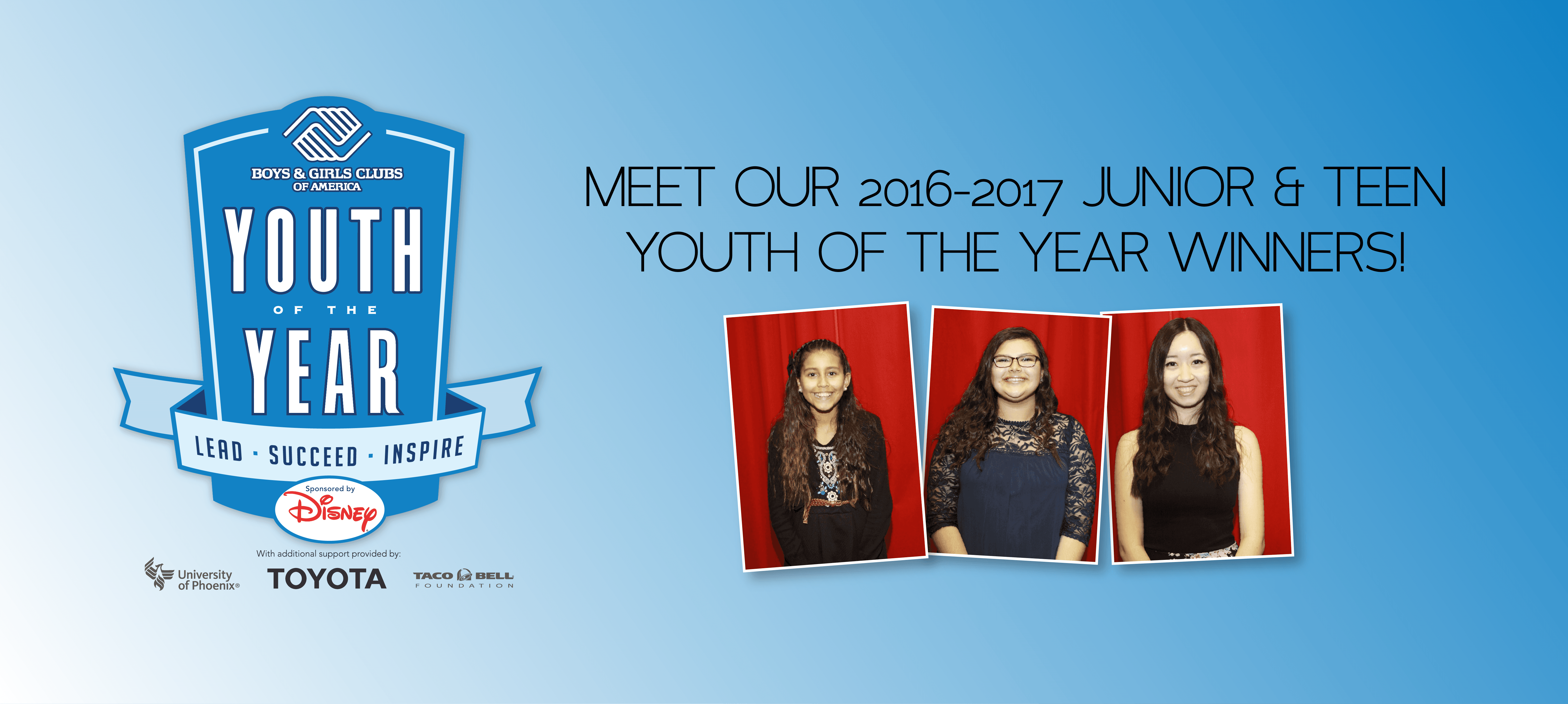 Meet our 2016-2017 Youth of the Year!