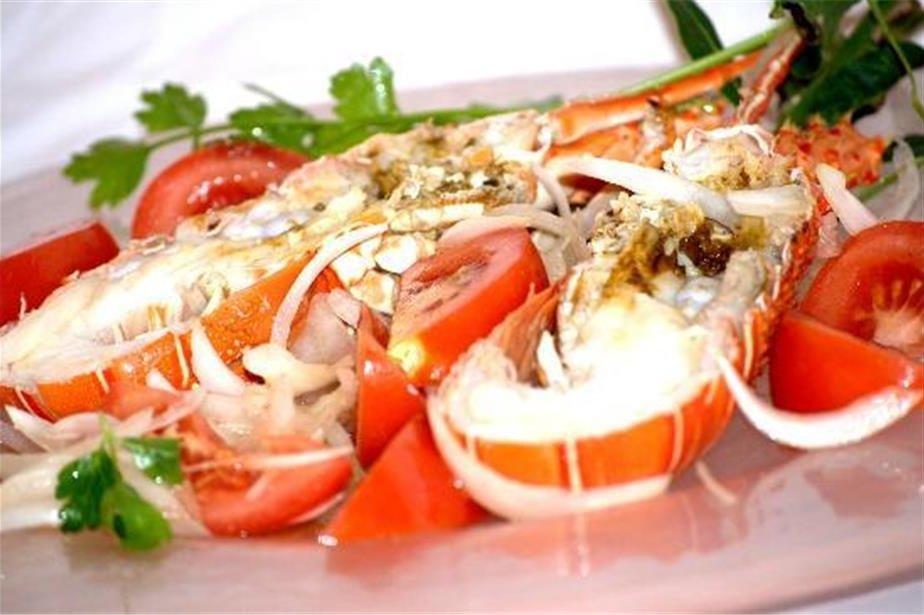 aragosta ripiena con le vegetali
