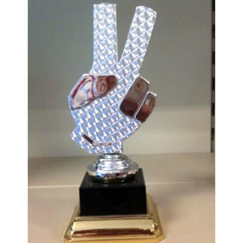 trofeo a forma di due dita alzate