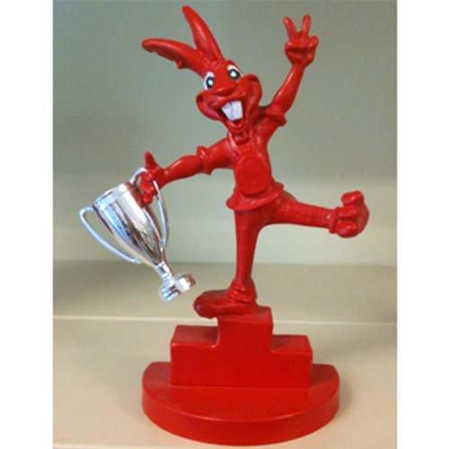 trofeo a forma di coniglio rosso