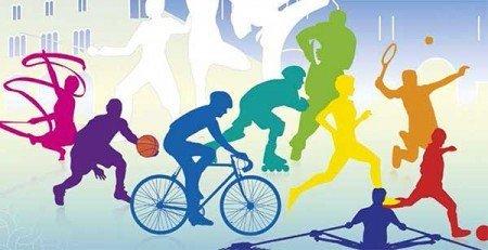 stampe di persone che praticano vari sport