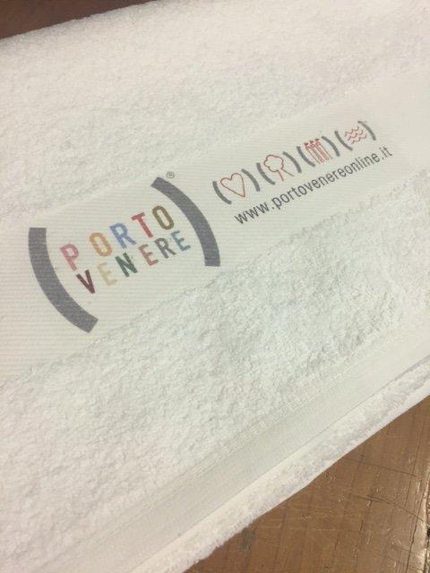 asciugamano con stampa del sito internet PORTO VENERE