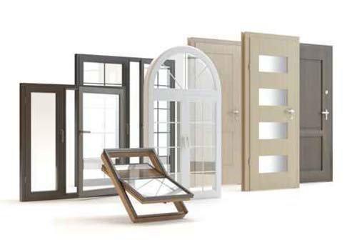 delle porte in legno, lucernari e finestre