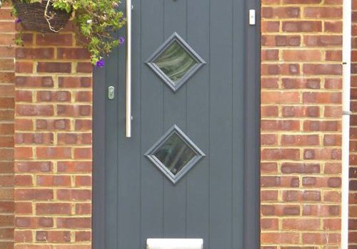 Newly installed wooden door in Long Crendon,