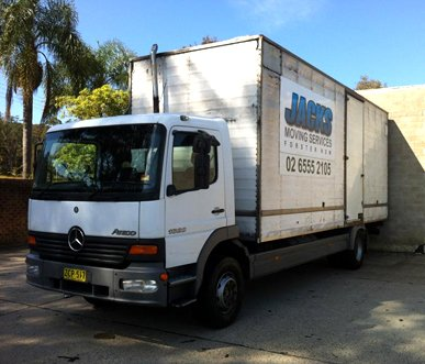 jacks moving services transport truck