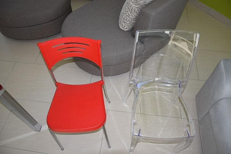 sedie plexiglass