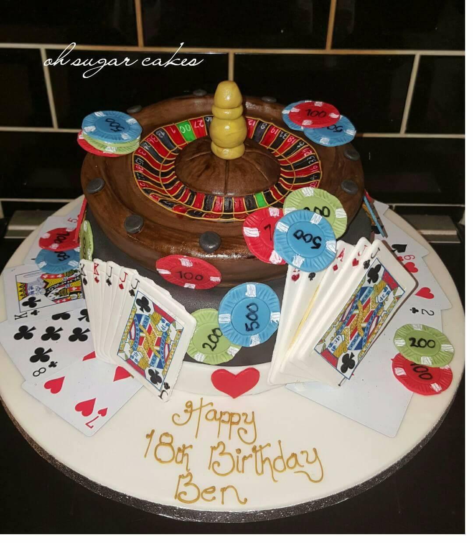 casino inspired cake