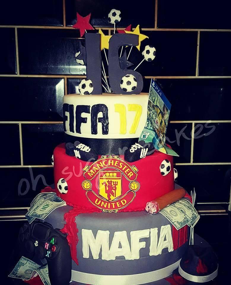 fifa themed cake