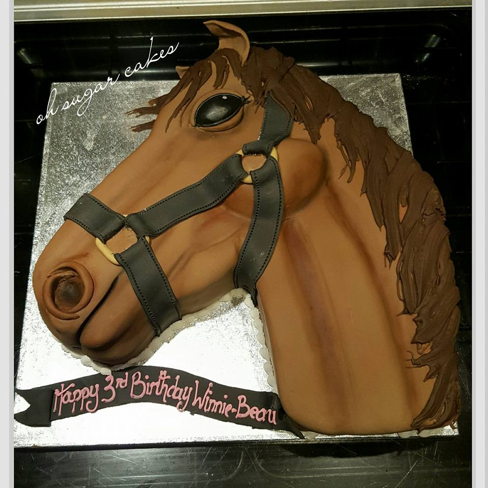 horse faced cake
