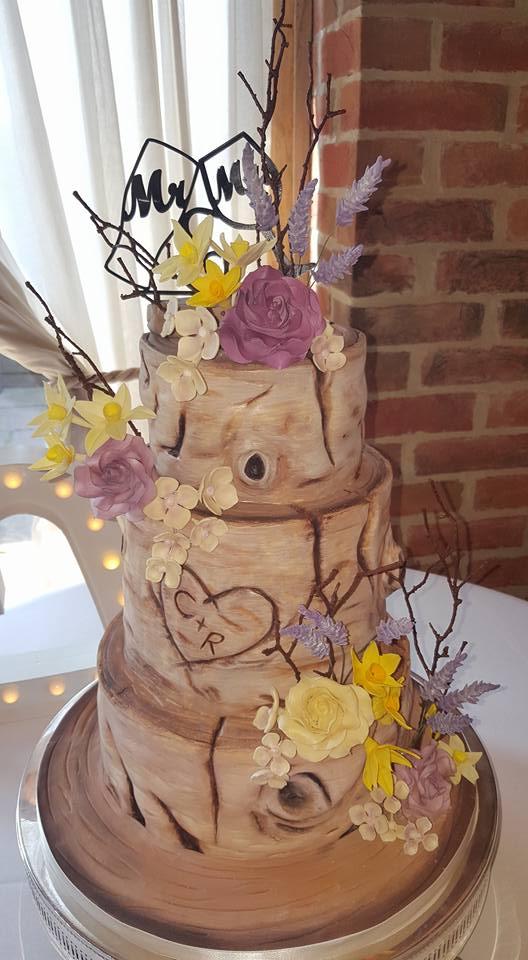 flowers inspired cake