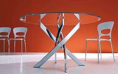 tavoli rotondi vetro