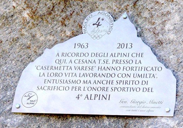 Alpini Targa commemorativa in acciaio inox