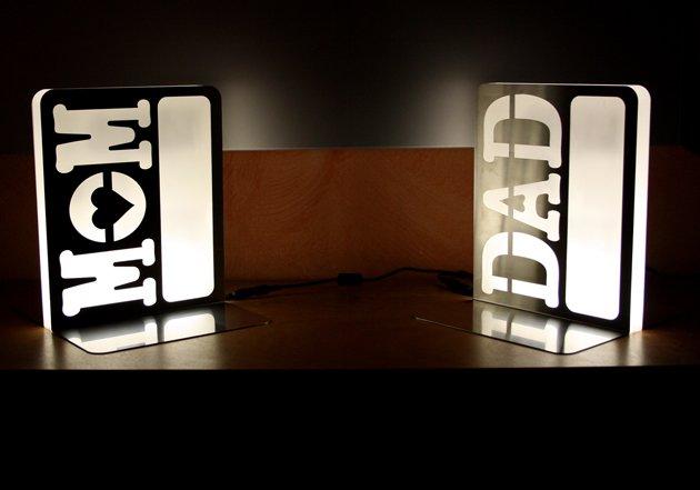 Lampada fermalibro design Andrea Scarpellini
