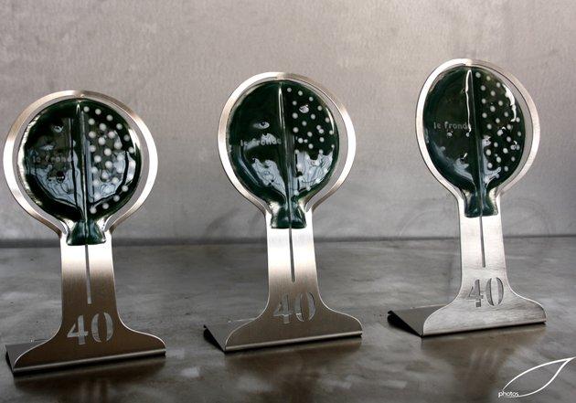 Trofei in acciaio inox e vetro artistico