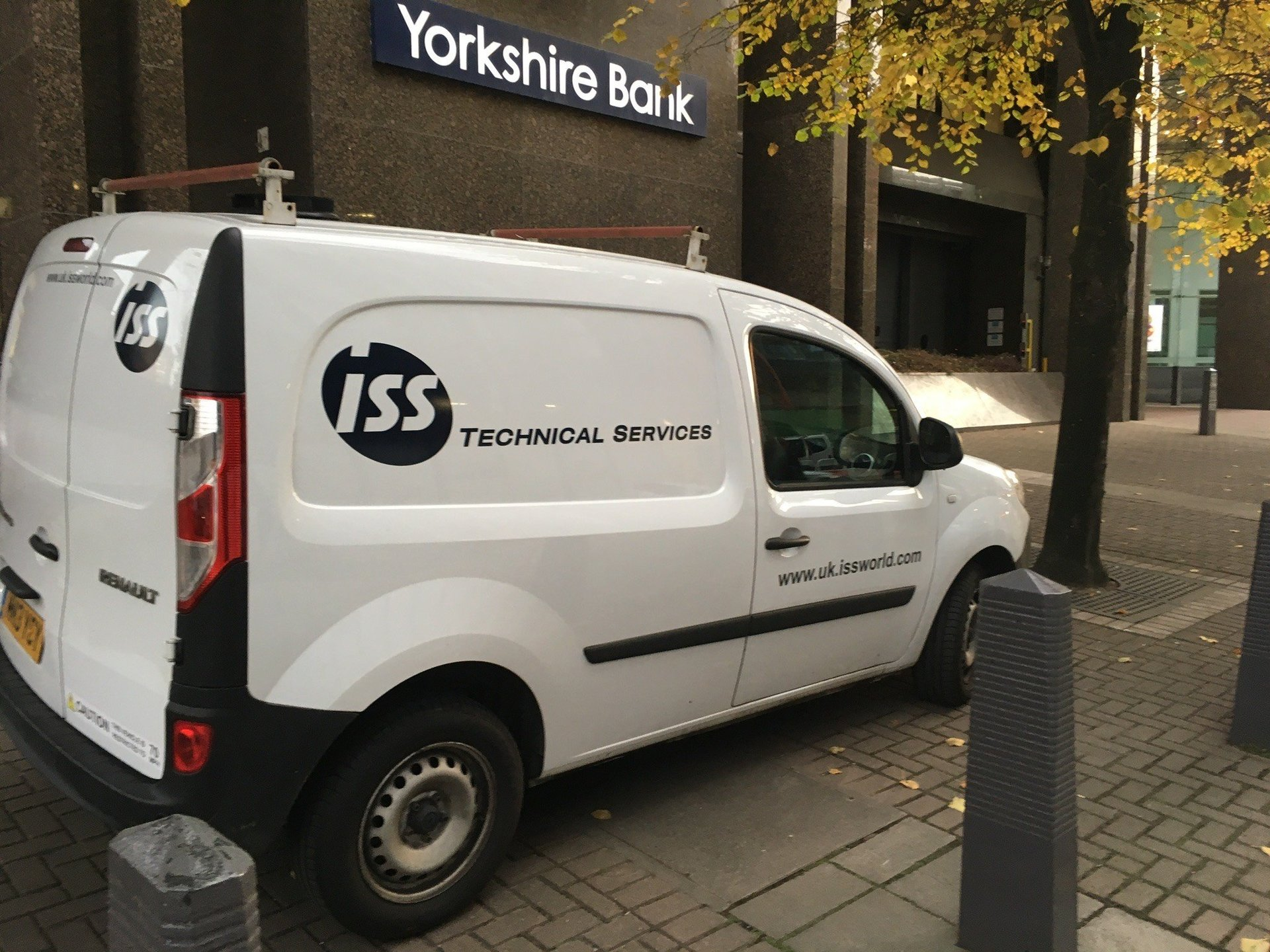 White Van With Company Branded Colours In Manchester