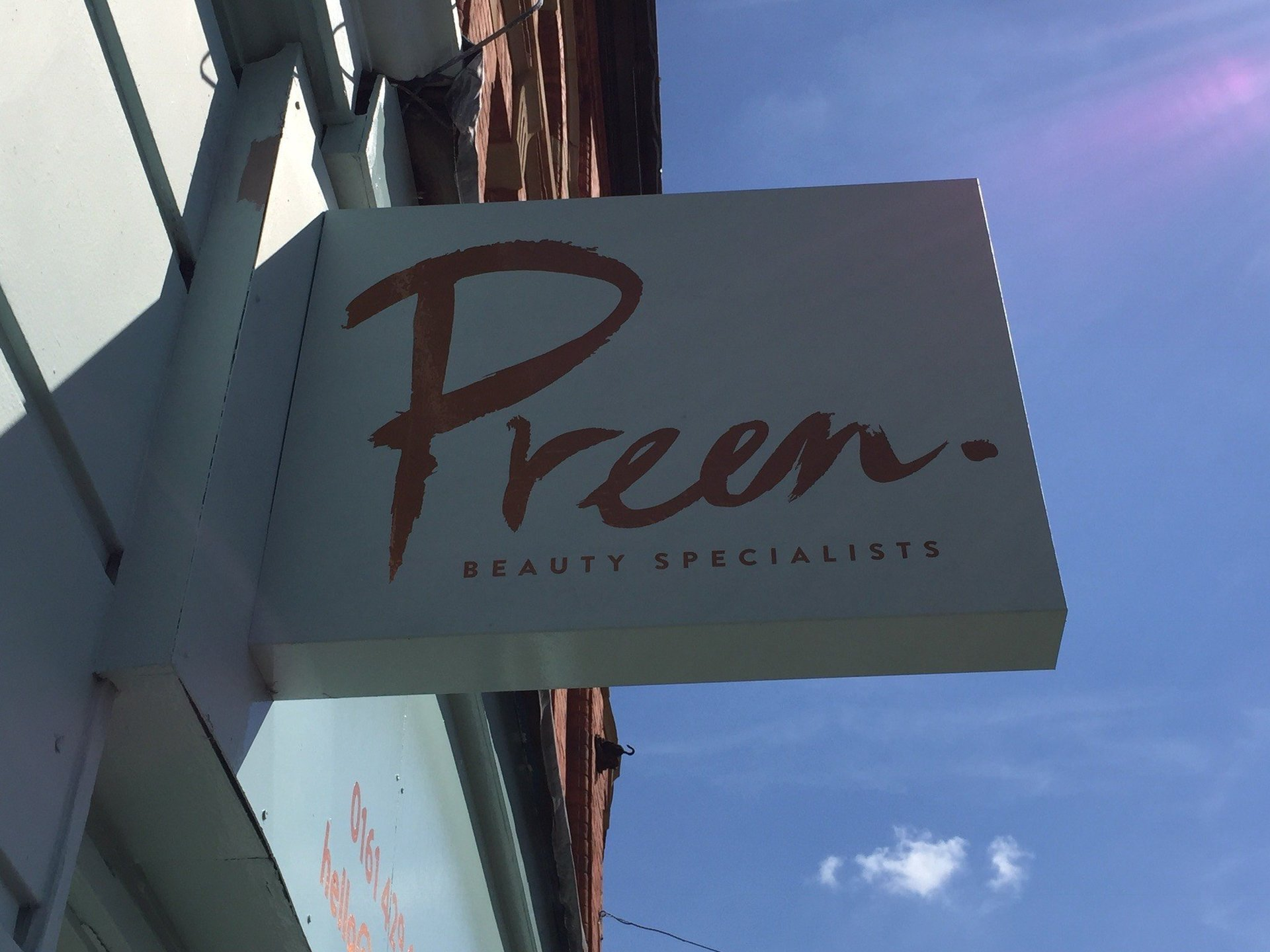 Shop Projection Sign - Stockport