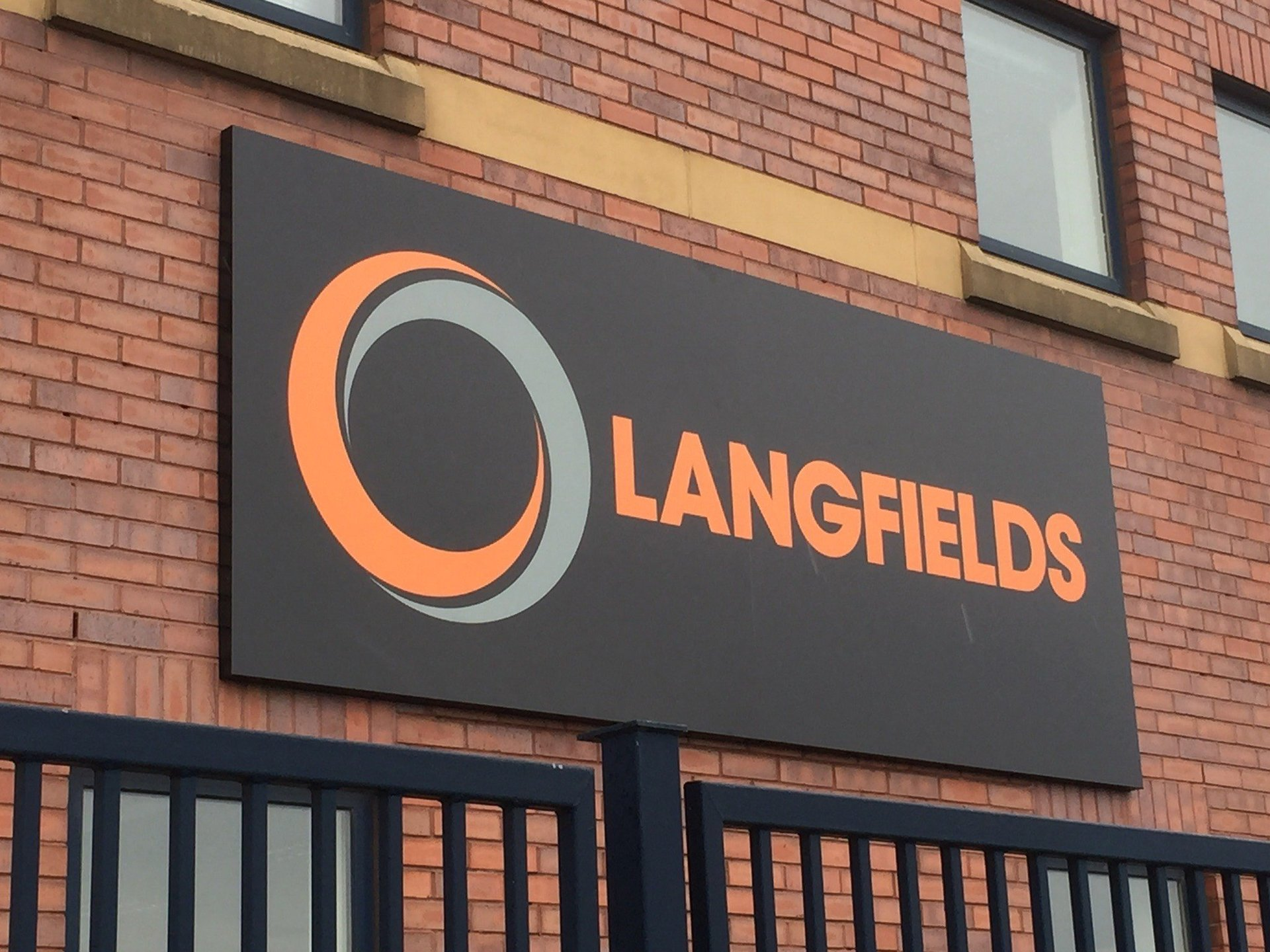 Langfields Building Sign - Salford