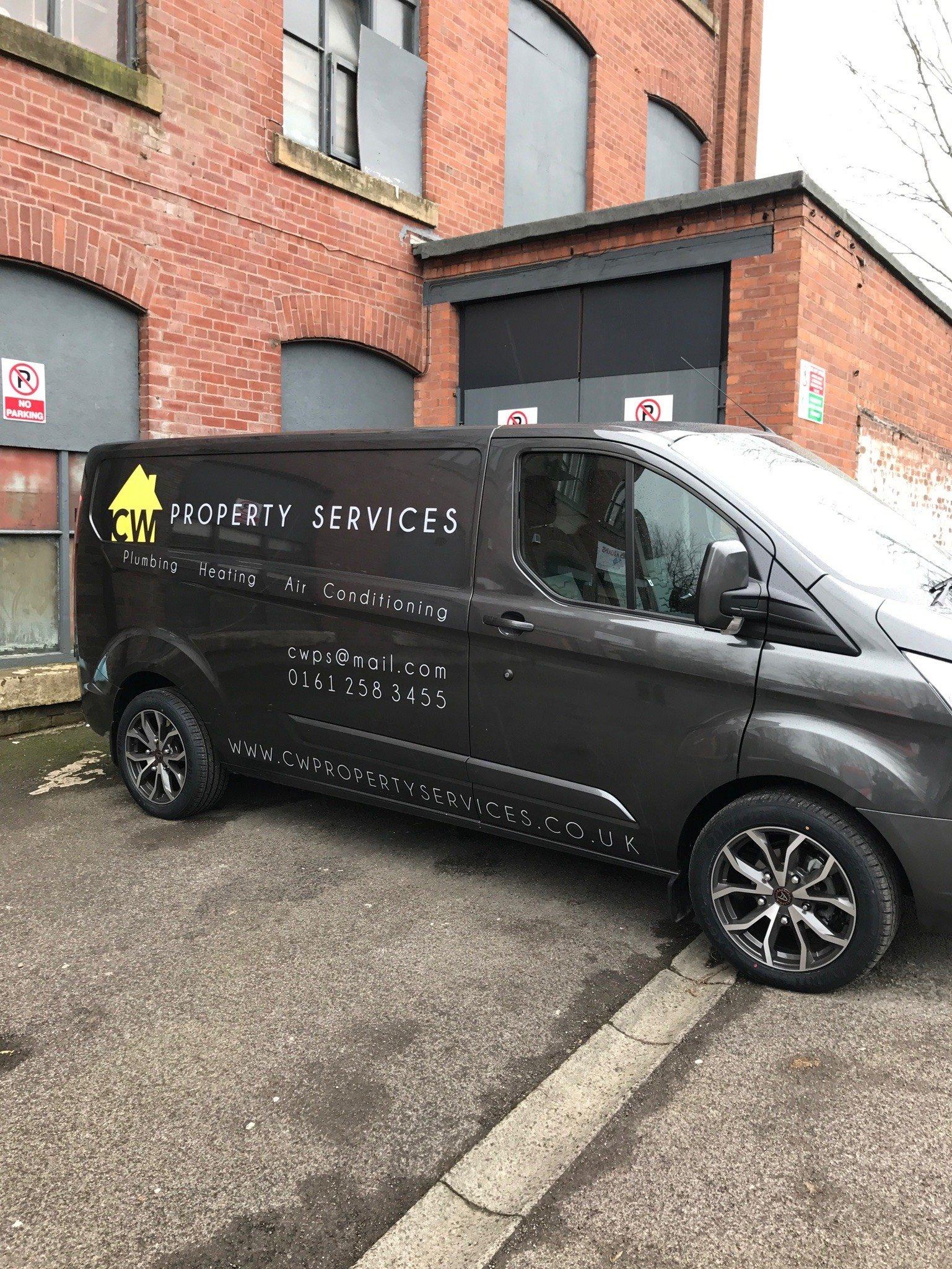 Silver Van With Light Grey Van Graphics - Manchester
