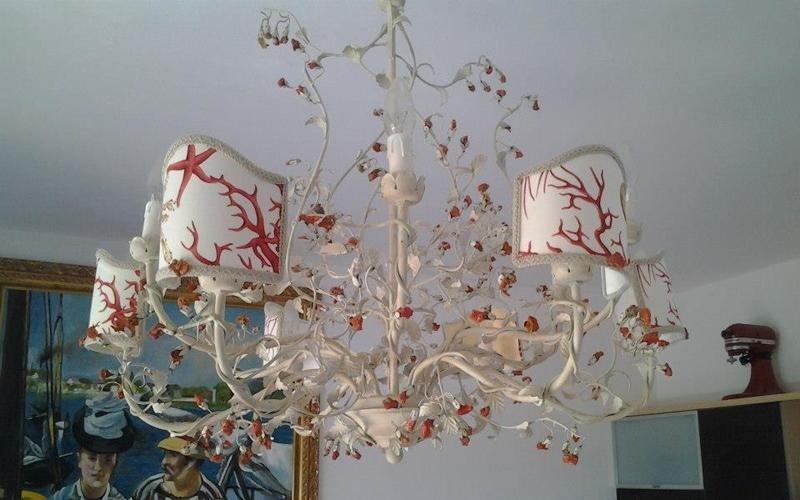 lampadario corallo