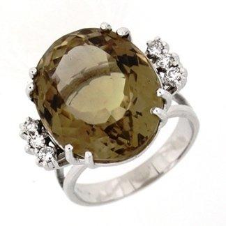 anello, topazio