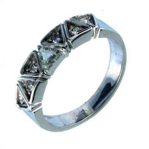 Anello Veretta Diamanti Brillanti