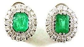 orecchini, smeraldi, diamanti