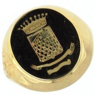 anello con stemma nobiliare