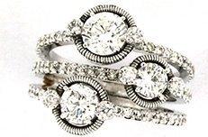 anello con brillanti