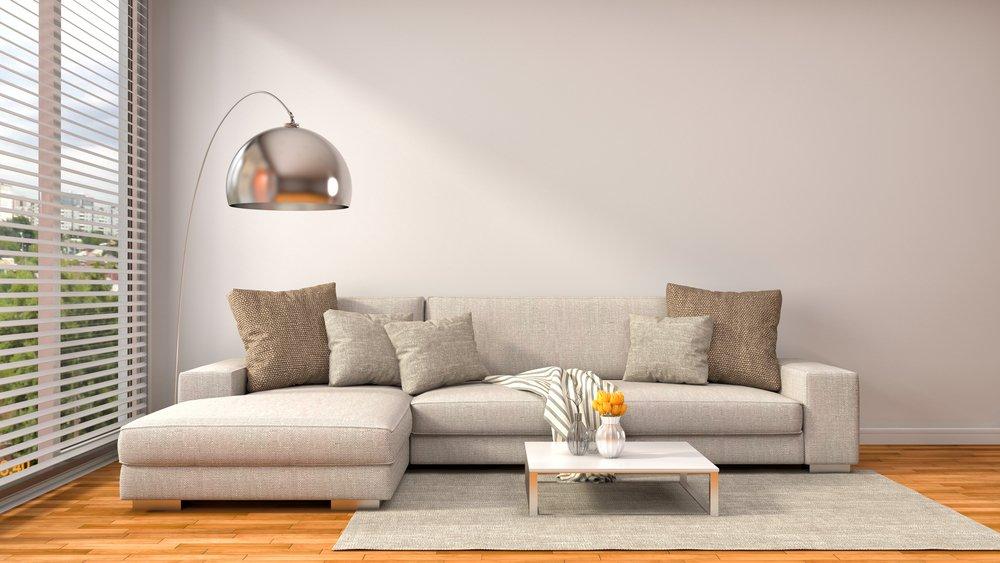Divani con cuscini in sala moderna