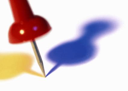 stock photo of thumbtack.