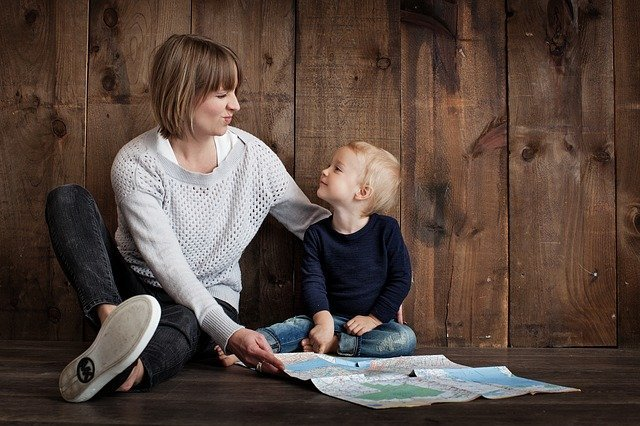 Stock photo of mother and child