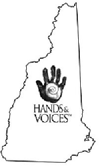 Hands and Voices logo. Links to DHHEI website for registration and info.