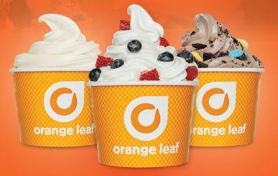 orange leaf frozen yogurts