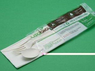 Tris di posate biodegradabili