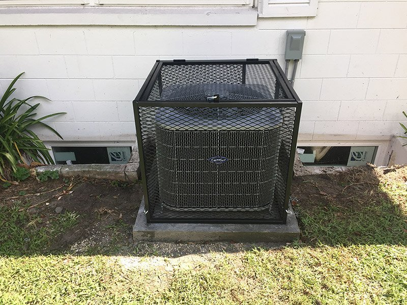 Safeguard AC Cages Installed