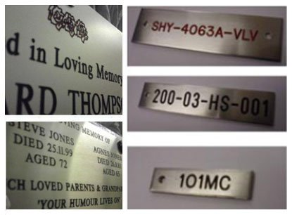 Stainless steel engraving