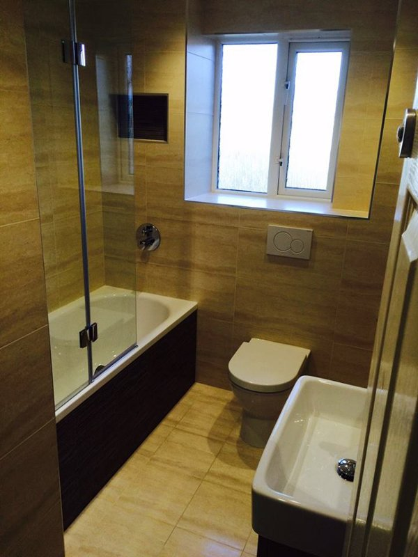 wooden bathroom flooring