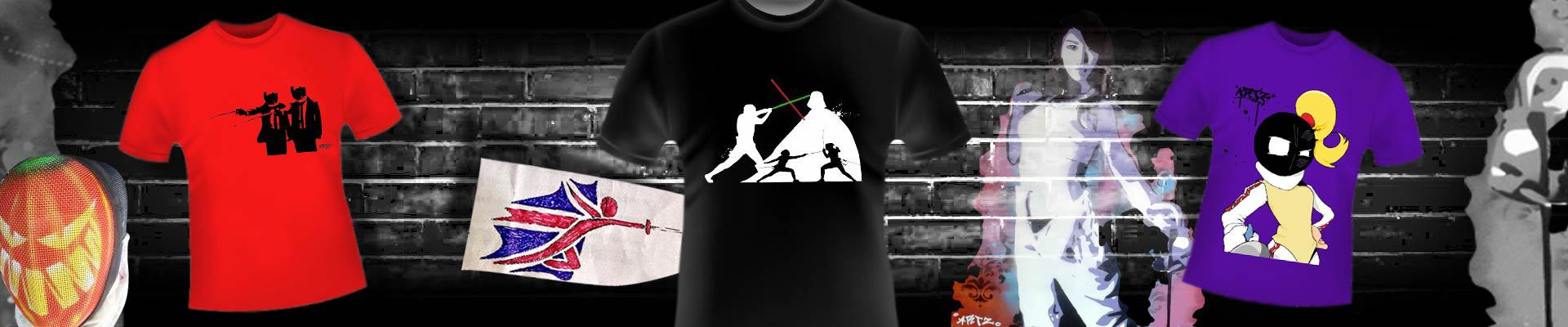 fencingstuff themed t-shirts