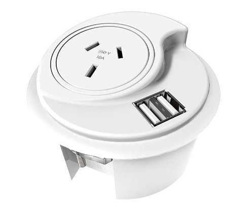 flair office furniture cable hole power and usb