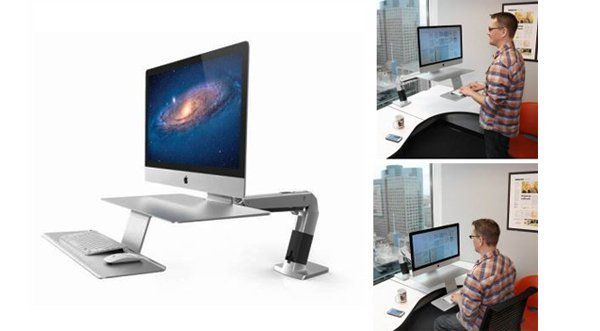 flair office furniture height adjustable desks work fit sit stand workstation for apple
