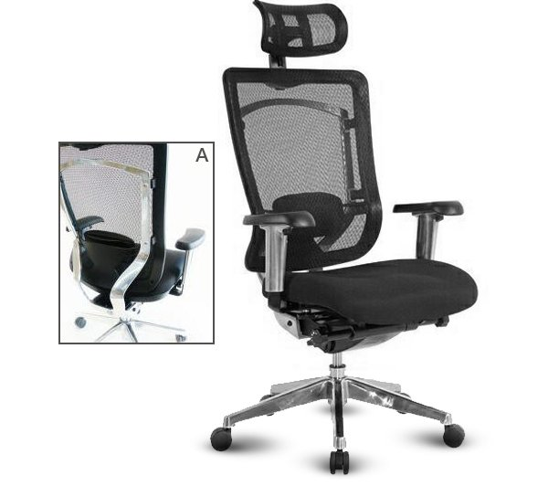 flair office furniture seating nicholas mesh backed chair