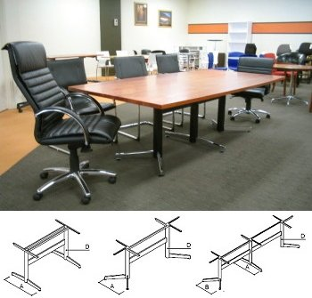 flair office furniture tables solid myrtle