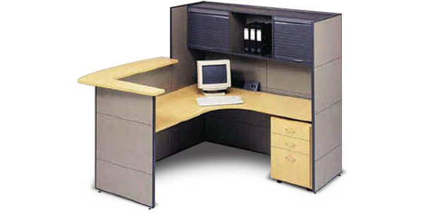 flair office furniture reception utility centre with counter top