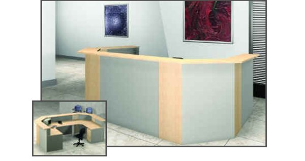 flair office furniture reception mod u link reception system