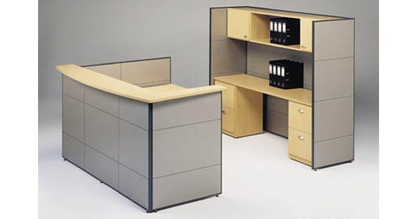 flair office furniture reception two piece reception centre