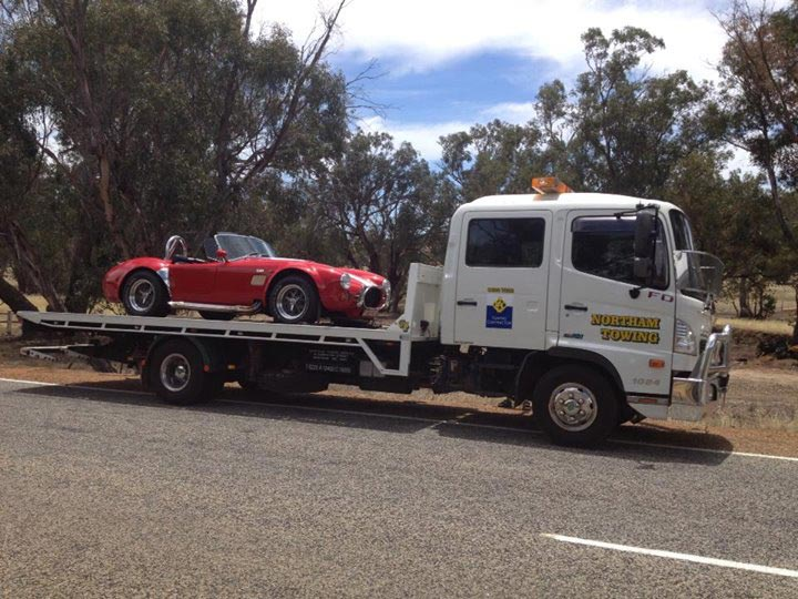 towing a sports car