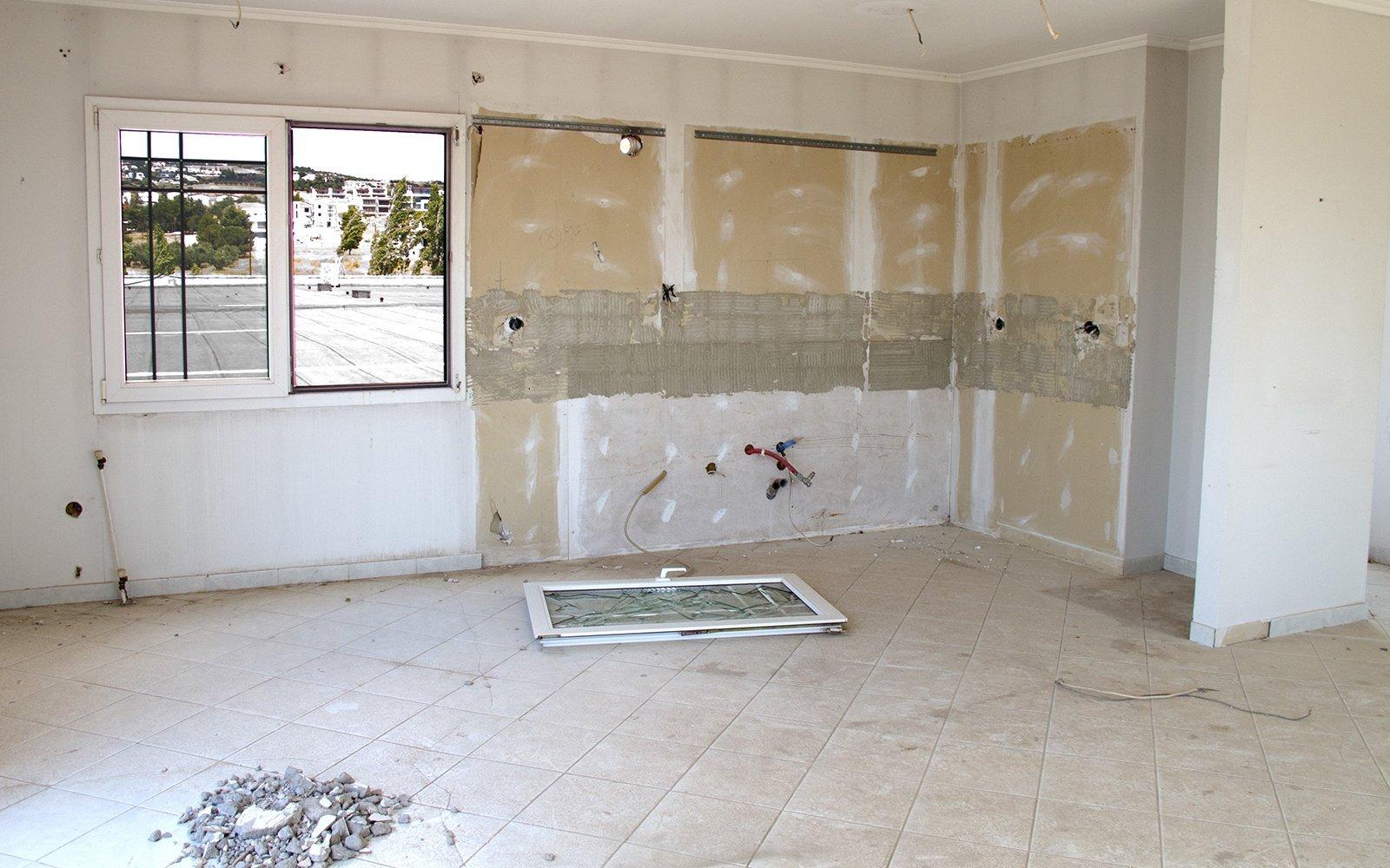 Camera in ristrutturazione